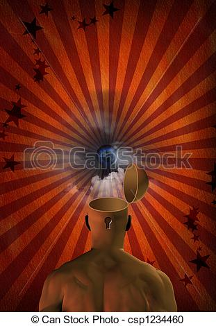 Abstract clipart open mind Of csp1234460 abstract mind Illustration