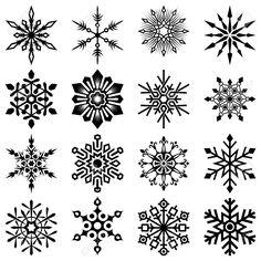 Drawn snowflake filigree Free Chalkboard ClipArt