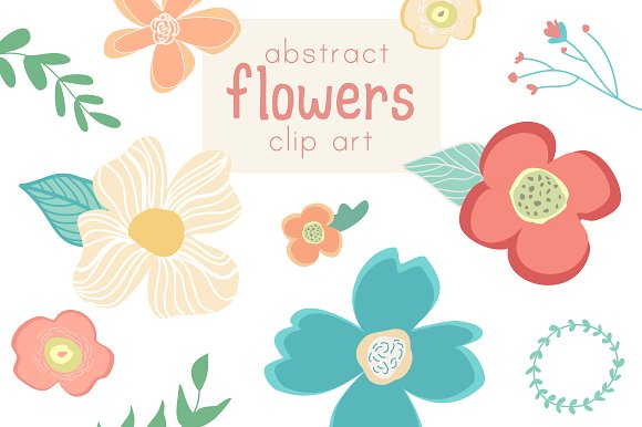 Wildflower clipart abstract Creative Abstract Flower Illustrations Market