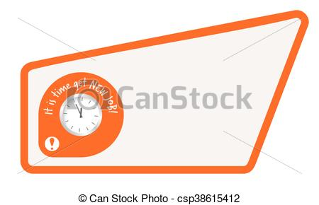 Abstract clipart text box It new job words Abstract