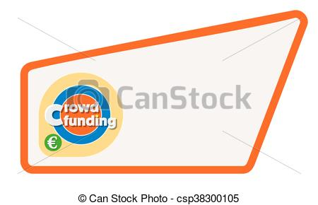 Abstract clipart text box Crowd Clipart of words your