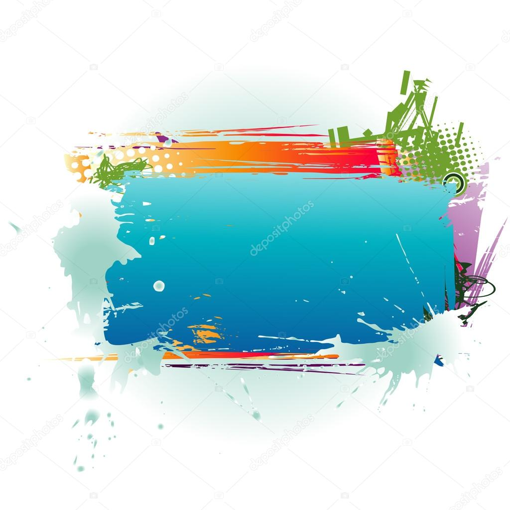 Abstract clipart text box Text Vector © Colorful Text