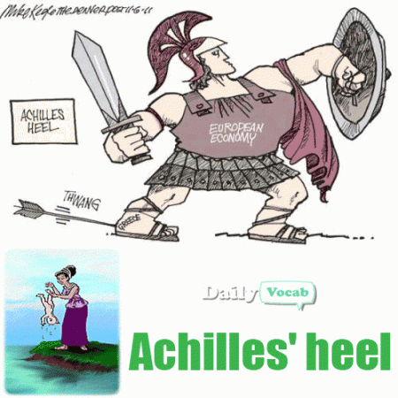 Achilles clipart achilles heel In meaning Meaning and Hindi