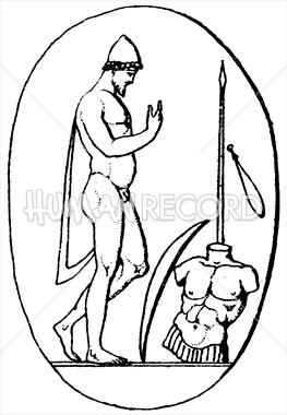 Achilles clipart mythological hero Annotated during War Odysseus' The