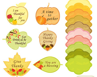 Acorn clipart thanksgiving  yellow Label Printable leaves