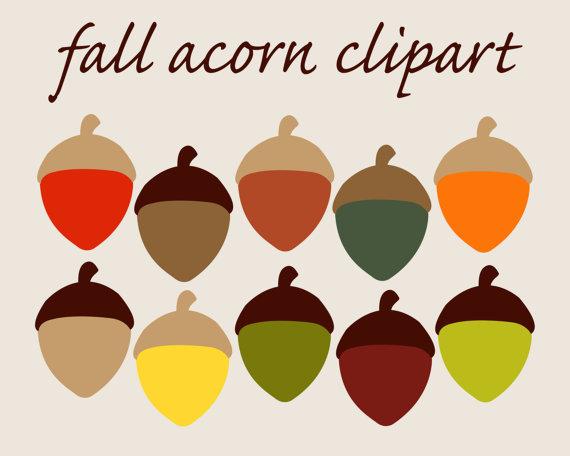 Acorn clipart yellow Of Autumn CLIPART