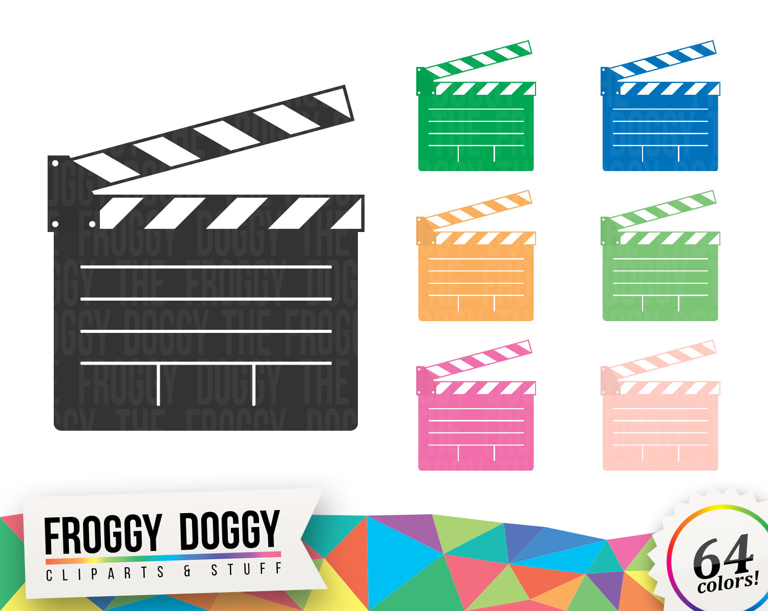 Actor clipart hollywood movie Clapperboard Clipart Cliparts Movies This