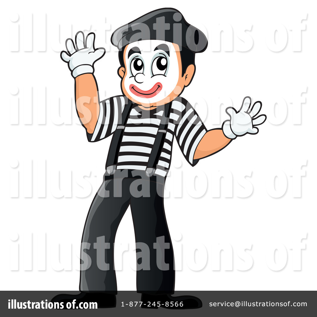 Actor clipart mime By #1259892 Mime Illustration Clipart