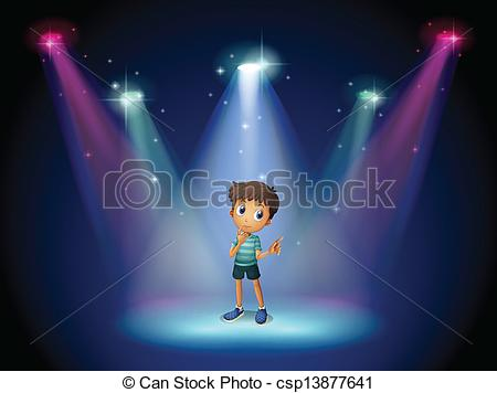 Actor clipart spotlight Vector with of at acting