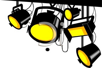 Actor clipart stage lighting Talent Clip Stage  Clip