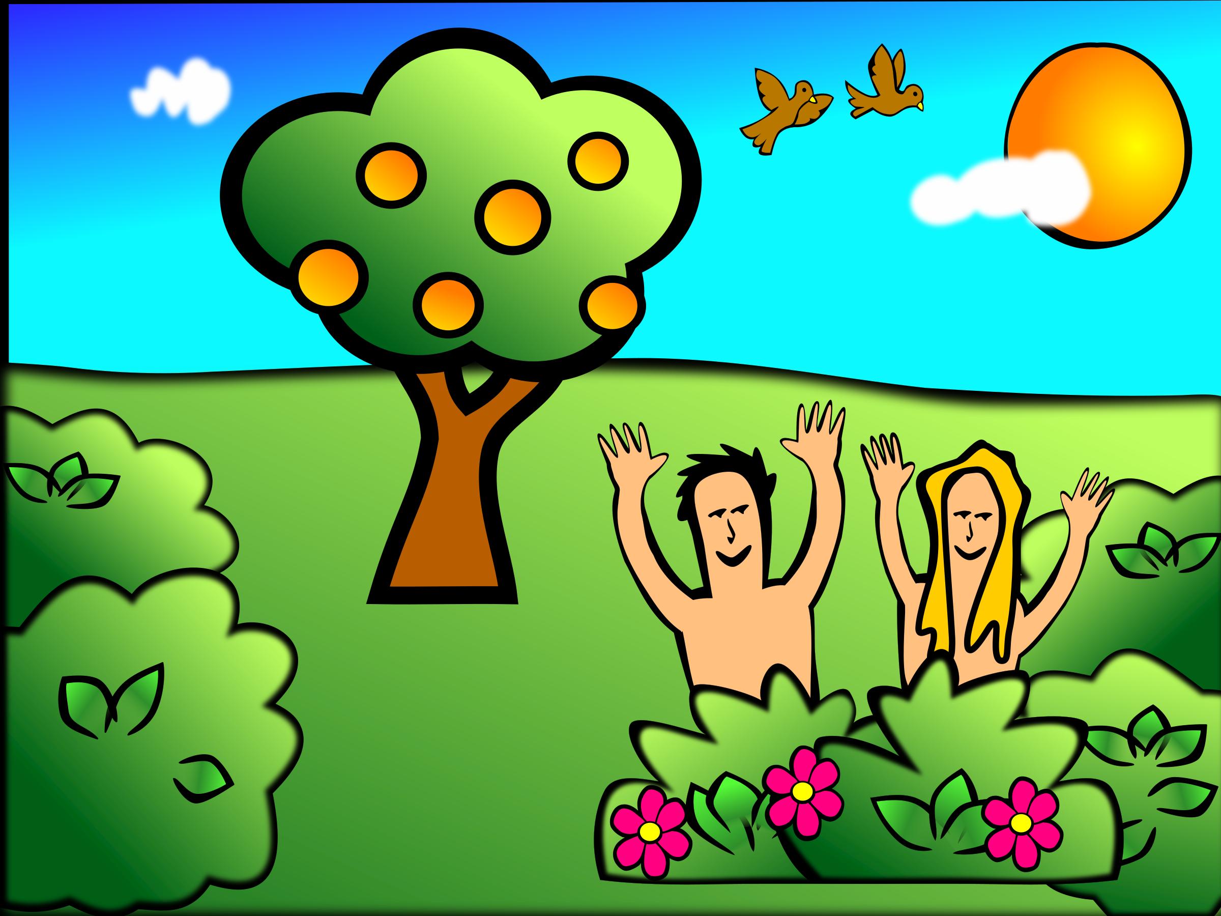 Garden Of Eden clipart adam and eve #2