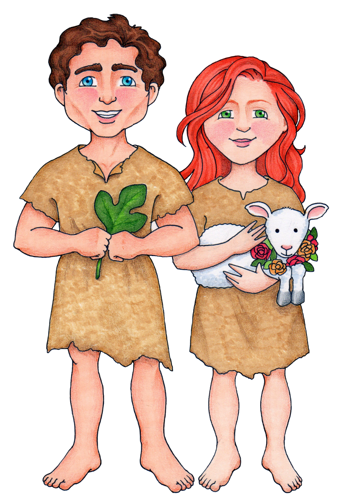 Adam And Eve clipart Art Eve & Garden Clip