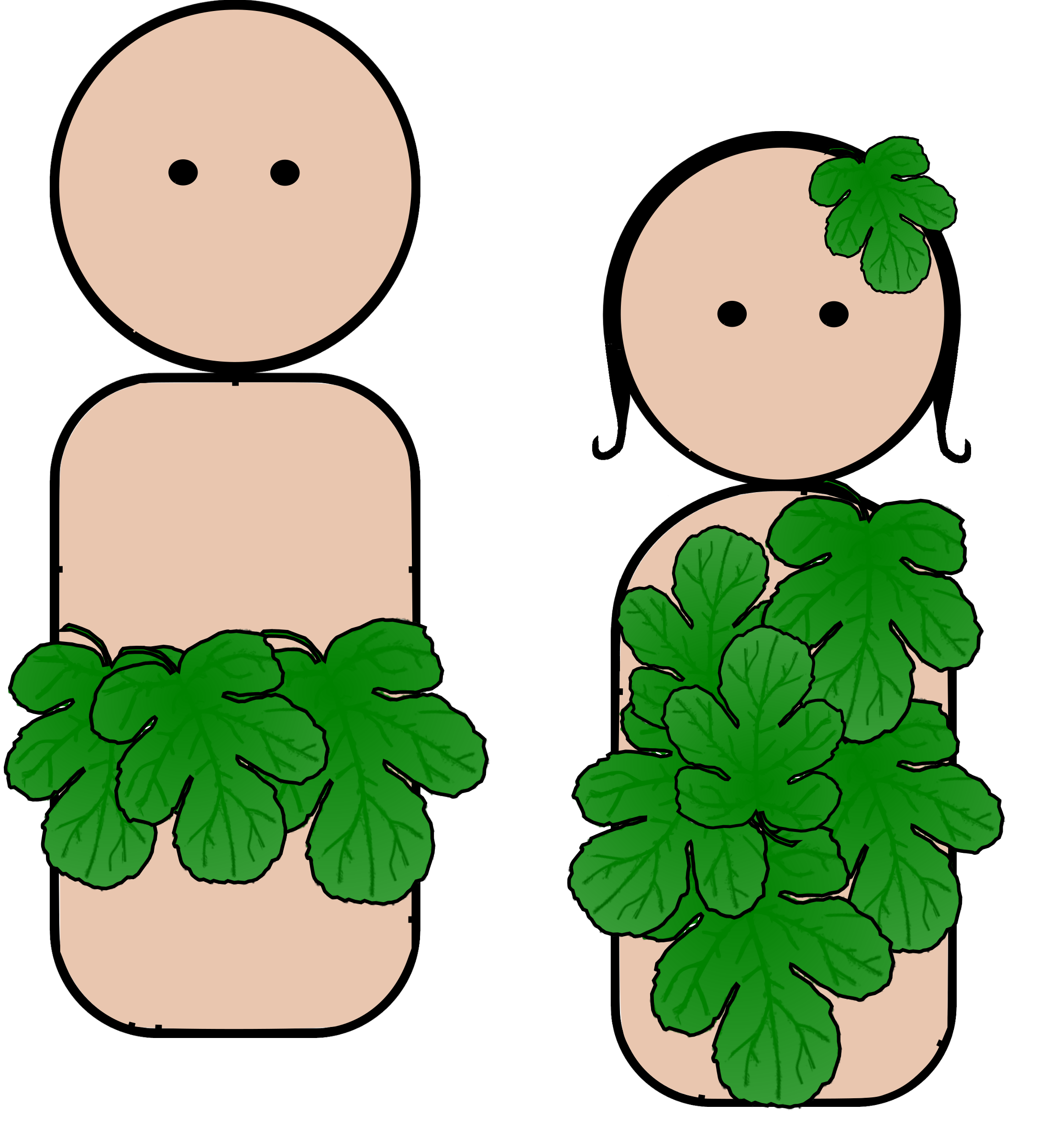 Adam And Eve clipart Clipart People Peg Adam Eve