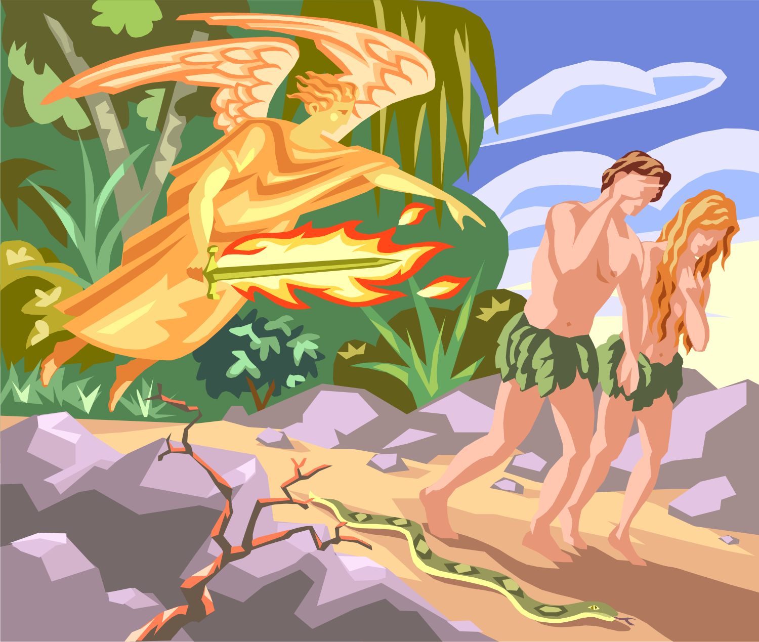 Adam And Eve clipart Adam And Eve In The Garden Of Eden Clipart Adam from Of the and