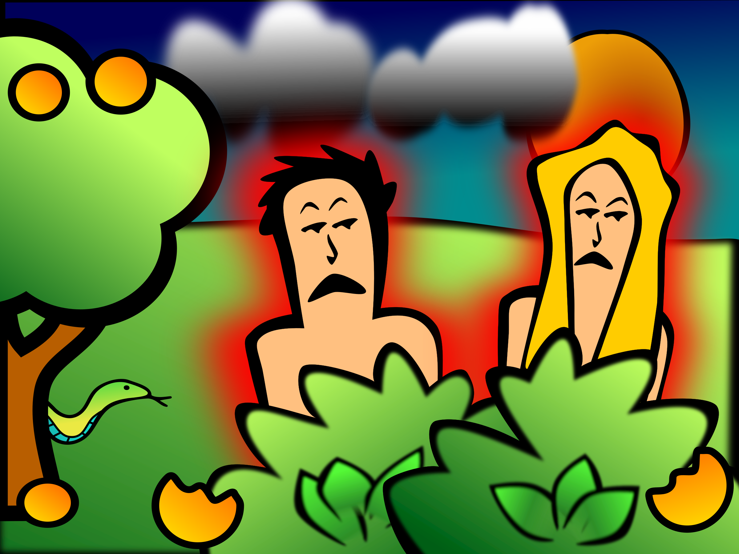 Adam And Eve clipart Adam And Eve In The Garden Of Eden Clipart Adam eve in & garden