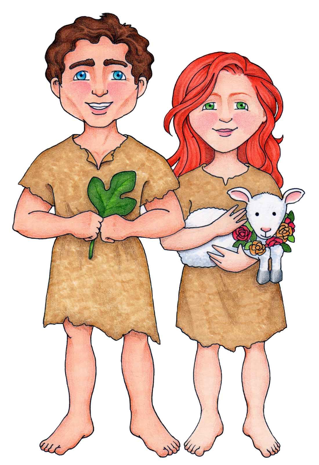 Adam And Eve clipart Cain And Abel Clipart Storybook  Abel and My