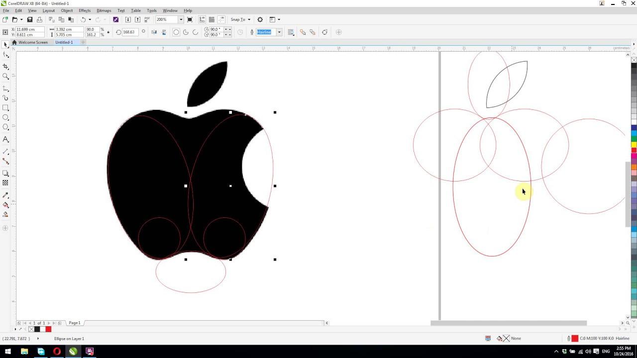 Adidas clipart corel Logo tutorials for redraw apple