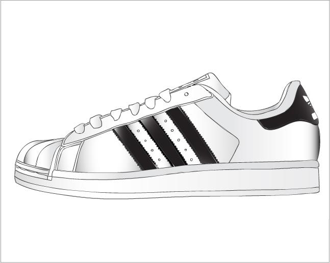 Adidas clipart fun walk Imagenes Buscar superstar con vector