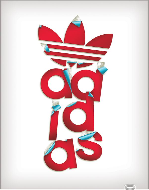 Adidas clipart logo design Behance T  Design on