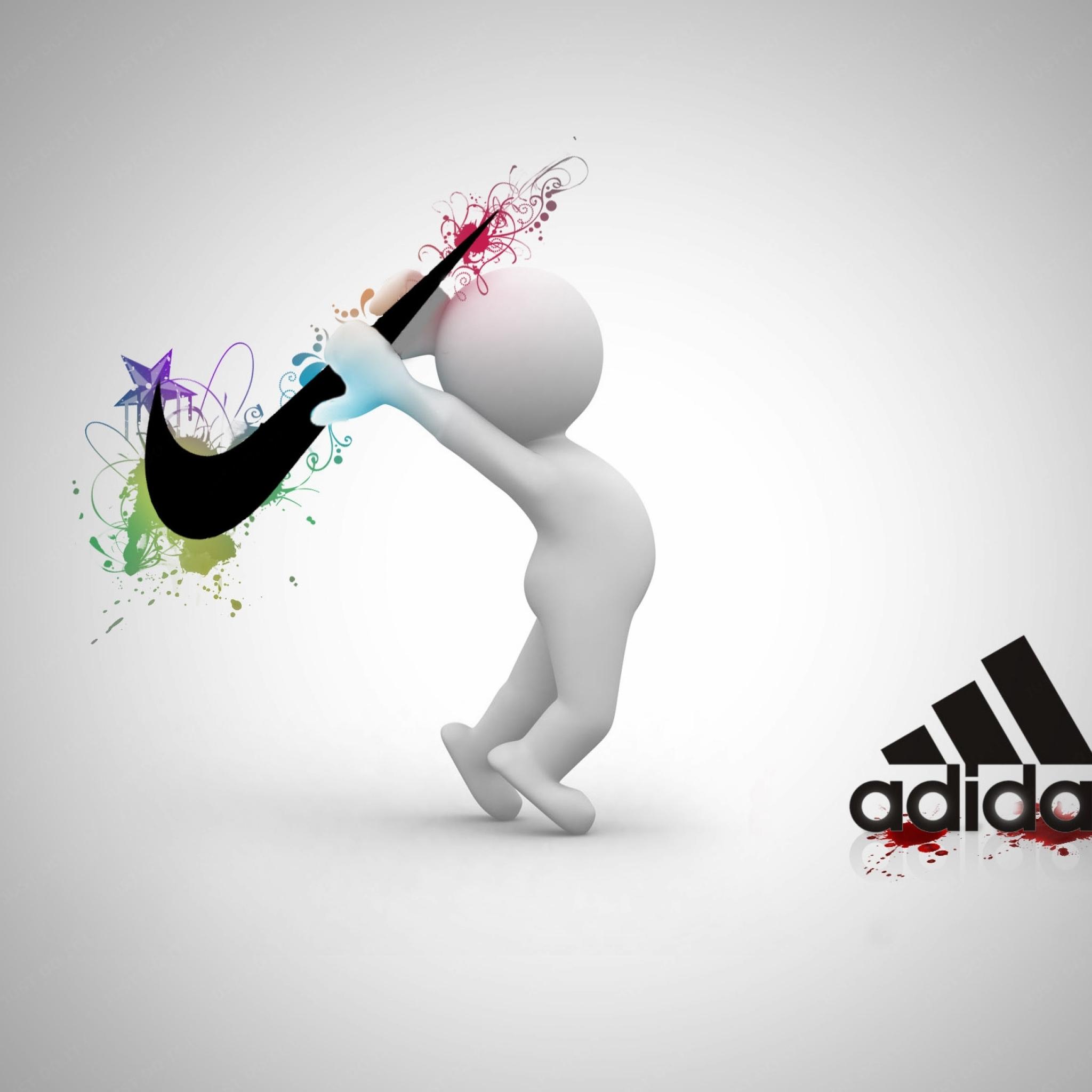 Adidas clipart nike air Adidas Wallpaper  2048x2048 Adidas
