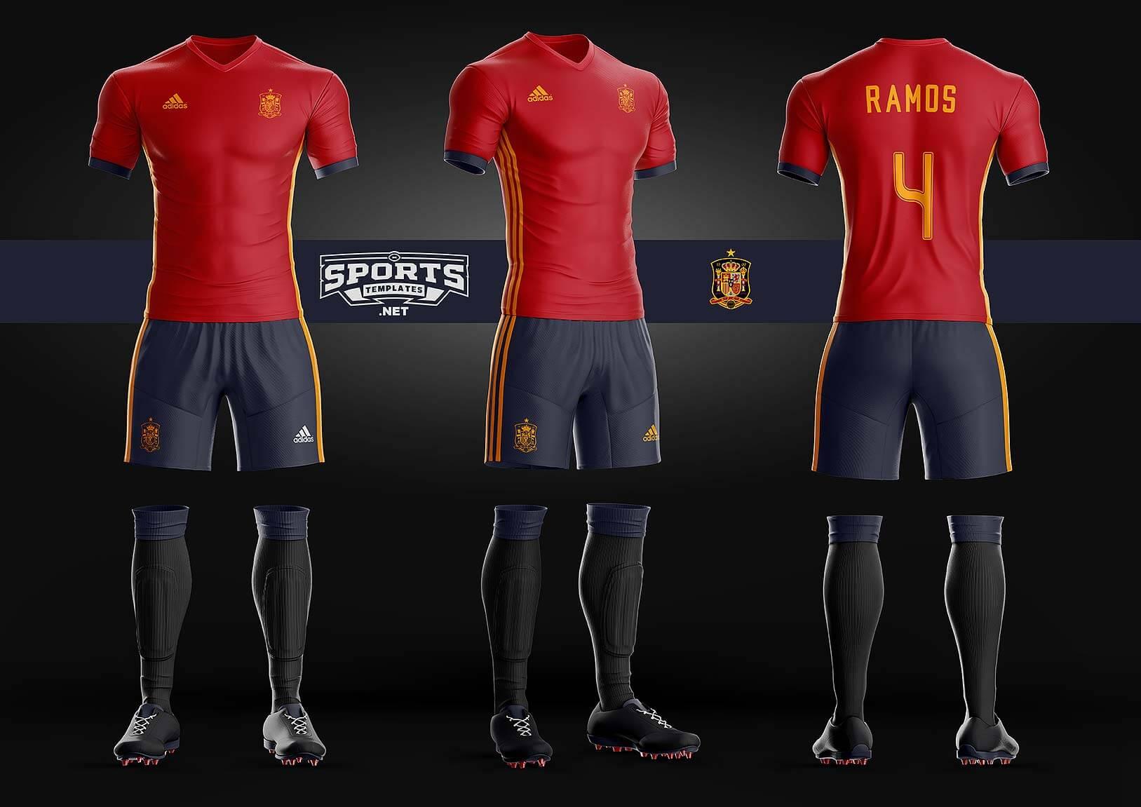 Adidas clipart psd Jersey uniform soocer kit jersey