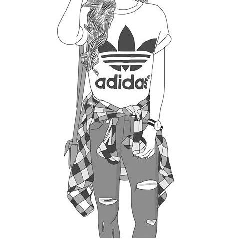 Adidas clipart tumblr adidas Drawings Best drawings  girl
