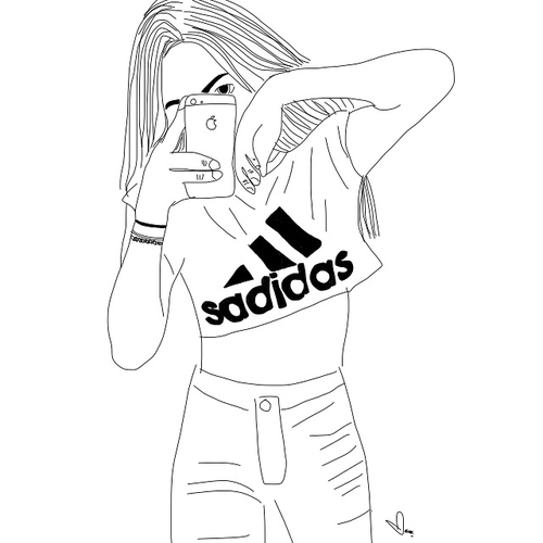 Adidas clipart tumblr adidas Popular image outline for this