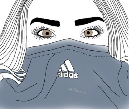 Adidas clipart tumblr adidas 774 outlines drawing images Tumblr