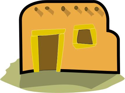 Adobe clipart /buildings/homes/homes_2/home_adobe home  html adobe