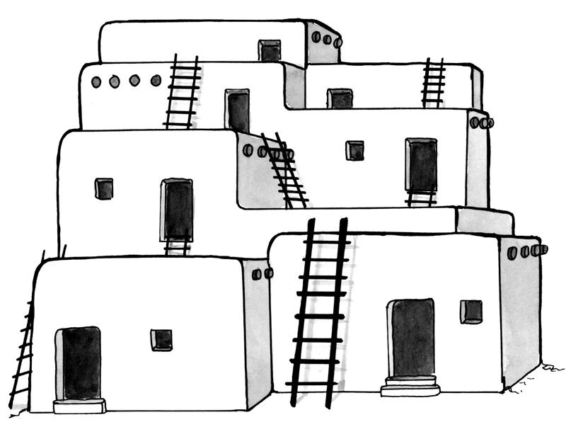 Adobe clipart Adobe House House art House adobe art