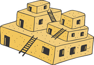 Adobe clipart Adobe House Are in stone Native by