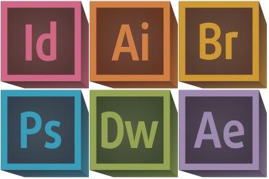 Adobe clipart Adobe Logo Adobe 3D Icons Retro CC
