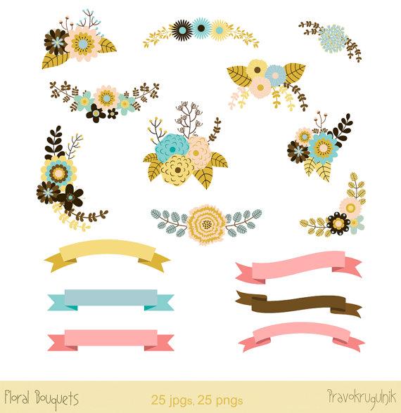 Adobe clipart Longhouse Clipart  flowers Floral Mint clip