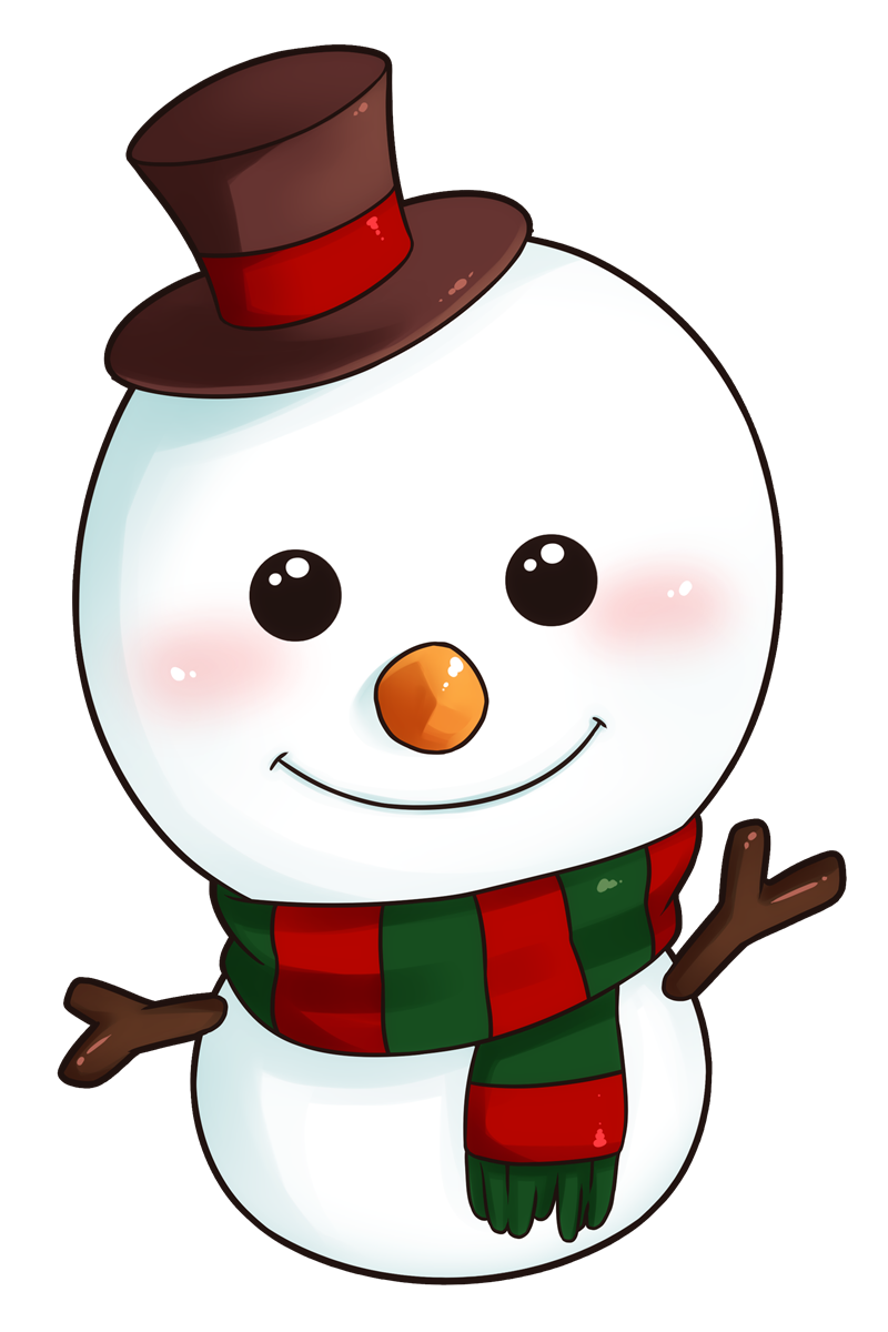 Snowman clipart cute Adorable Free art: Clipart dog