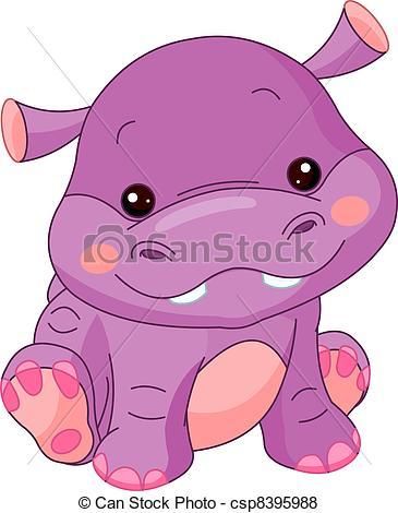 Adorable clipart baby hippo Zoo  5 357 art