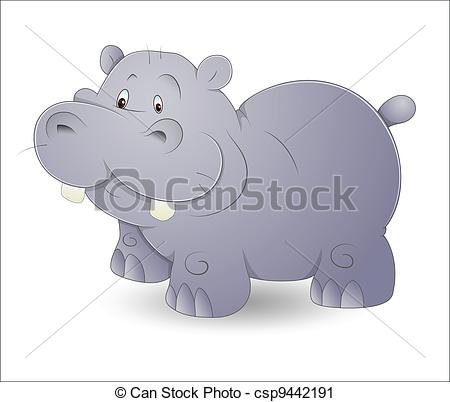 Adorable clipart baby hippo Clipartby 357 Cute art and