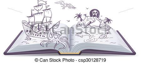 Adventure clipart adventure book Book Adventure Clip Open Vector
