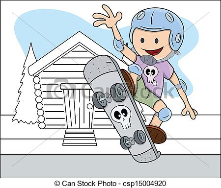 Adventure clipart boy Csp15004920 Playing Illustration Boy Drawing