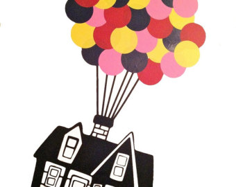 Adventure clipart disney up house Etsy Balloons DECAL Floating House