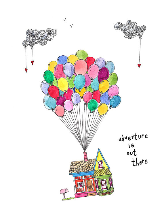 Adventure clipart disney up house Out quote disneys there
