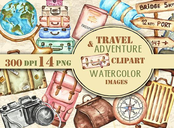Adventure clipart journey Images Suitcase Adventure hand journey