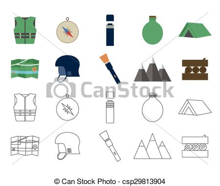 Adventure clipart take a Set design flat of Camping