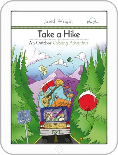 Adventure clipart take a Hike: Hike: Outdoor Coloring (Digital