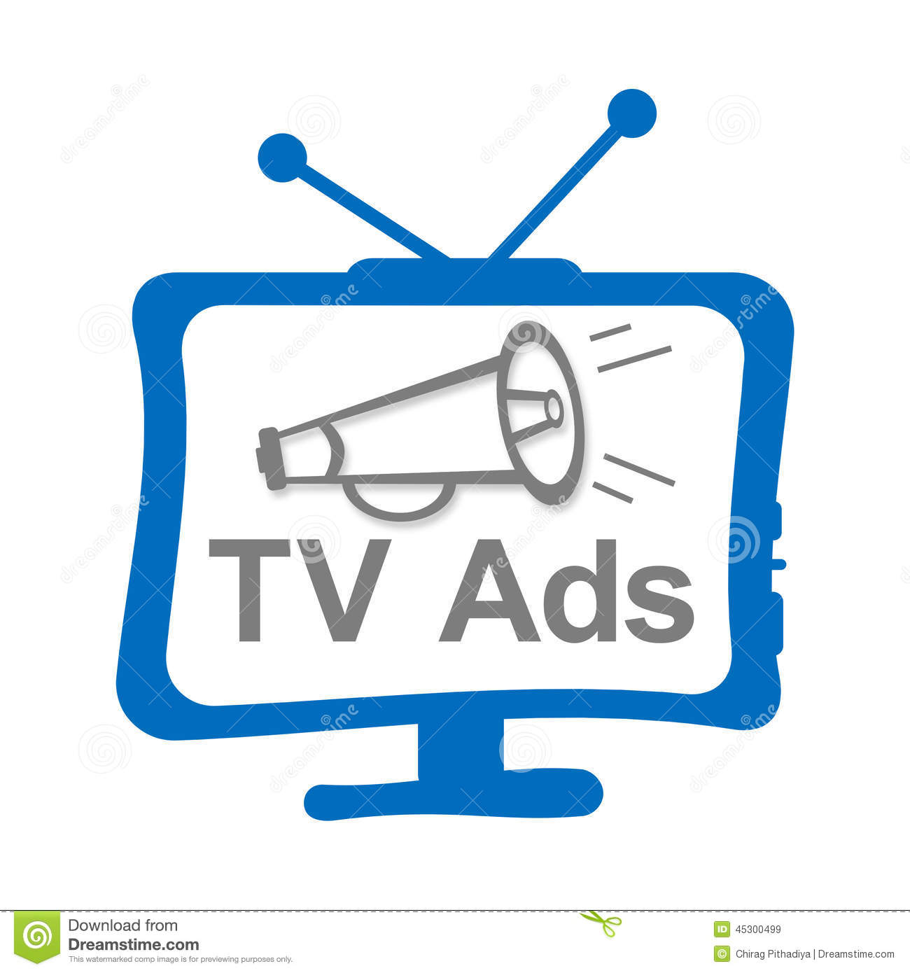Advertisement clipart black and white Clipart advertisement Tv Illustrations collection