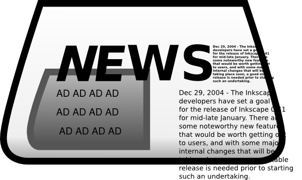 Advertisement clipart advertising Free  Clipart Newspaper Clip