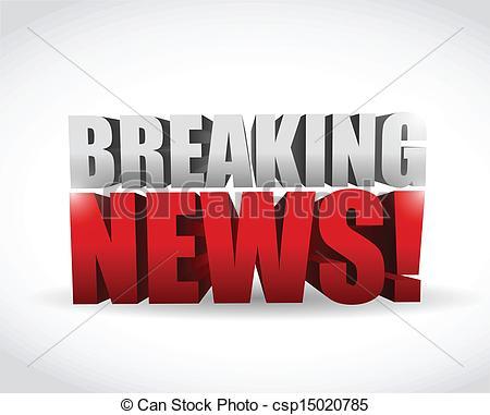 Advertisement clipart breaking news White breaking Vector sign design