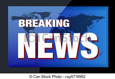 Advertisement clipart breaking news NEWS of csp5716952 Stock Photo