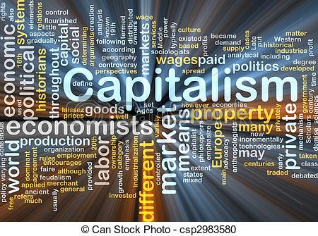 Advertisement clipart capitalism Stock glowing management csp2983580 cloud