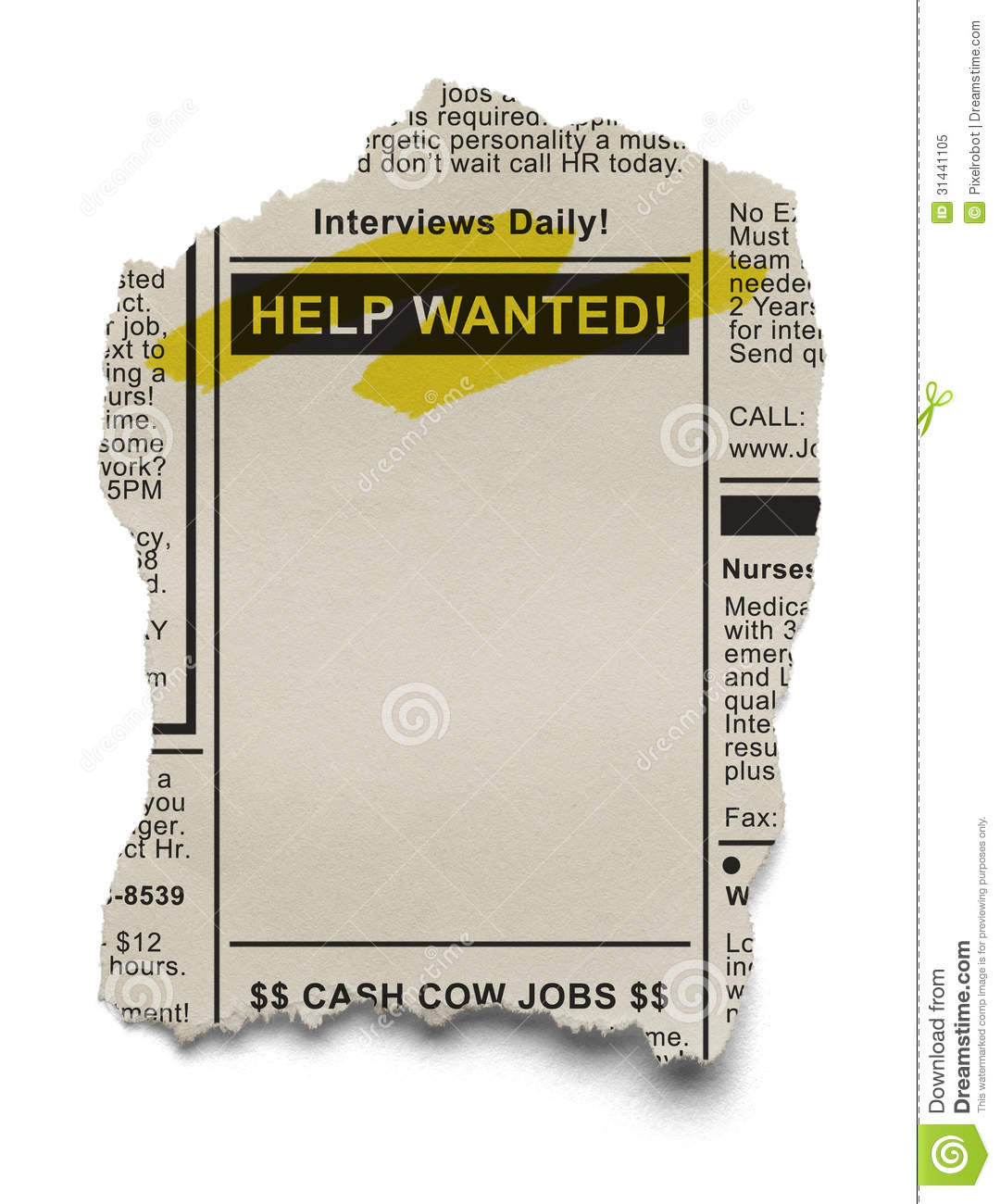 Advertisement clipart help wanted Help job Newspaper (58+) classified