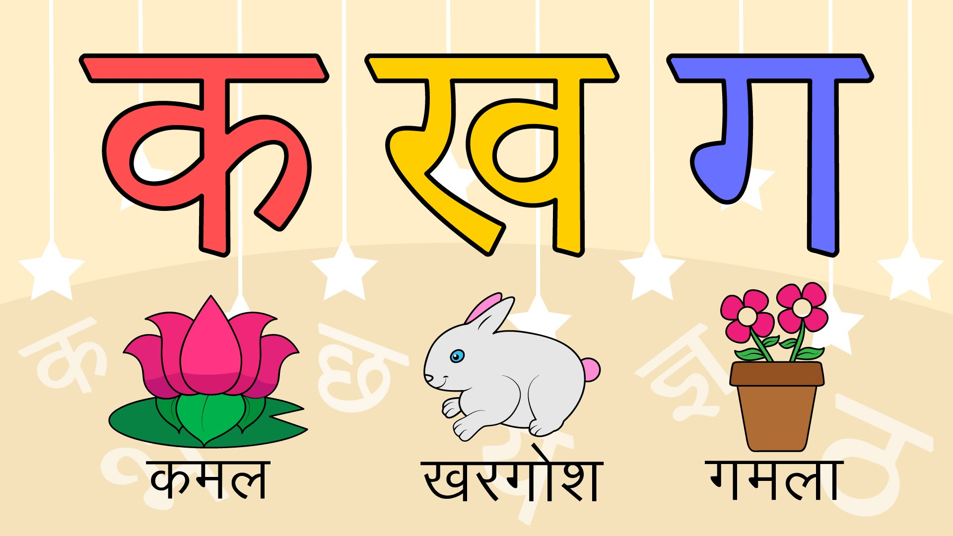 Advertisement clipart hindi 36 Hindi letters 36 pictures